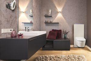 Auch das ist Luxus: Wohnzimmeratmosphäre im Bad.